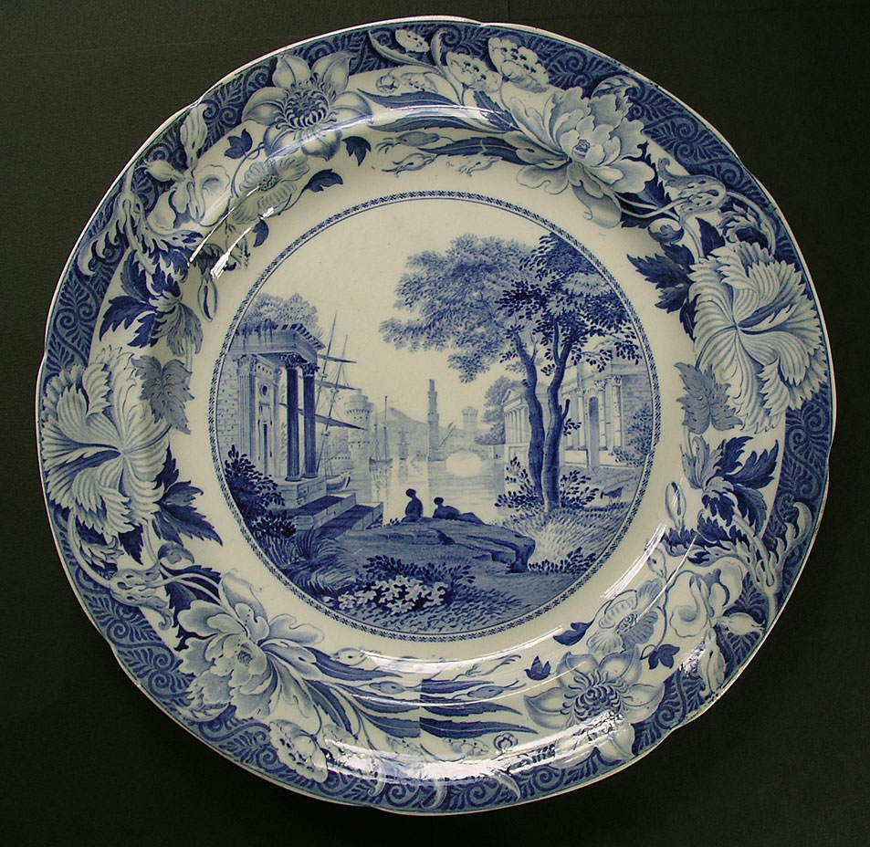 Fine wedgwood blue claude pattern blue and white pearlware Wedgewood designs