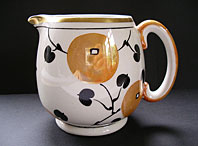 Art Deco pottery image - ART DECO SUSIE COOPER OR GORDON FORSYTH GRAY'S POTTERY ORANGES PATTERN GLORIS LUSTRE JUG C.1923-28