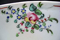 FINE RARE ANTIQUE NEW HALL BOWL COTTAGE SPRIGS PATTERN 376 C.1790