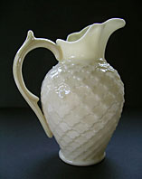 Belleek pottery image - BELLEEK POTTERY VINTAGE RELIEF HONEYCOMB PATTERN RATHMORE CREAMER JUG - 2ND GREEN MARK C.1955-1965