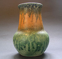 antique pottery image - SUPERB RUSKIN BRITISH ART POTTERY LARGE CRYSTALLINE VASE - ART DECO PERIOD DATED 1933