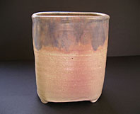 British art pottery image - UPCHURCH BRITISH ART POTTERY ART DECO PERIOD STUDIO POTTERY FOOTED VASE