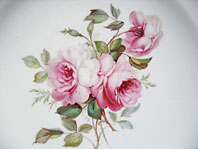 antique pottery image - ROYAL CROWN DERBY ARTIST SIGNED CABINET PLATE ROSE SPRAY BY ALBERT GREGORY C.1904