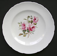 ROYAL CROWN DERBY ARTIST FINE SIGNED CABINET PLATE ROSE SPRAY BY ALBERT GREGORY C.1904