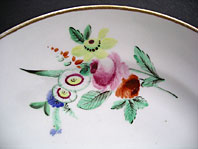antique pottery image - ANTIQUE ENGLISH PORCELAIN: WELSH SWANSEA IMPRESSED TRIDENT PLATE FOUR FLOWER SPRAYS, ATTRIBUTED TO HENRY MORRIS C.1817