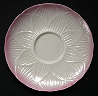 Belleek pottery image - BELLEEK PORCELAIN SECOND BLACK MARK RARE HIGH LILY PATTERN SAUCER DISH C.1891-1926