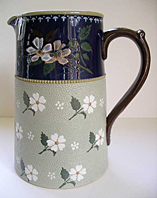 LOVATT LANGLEY MILL STONEWARE, ART NOUVEAU PERIOD C.1905-10, ART POTTERY JUG PRINCESS WARE  PATTERN