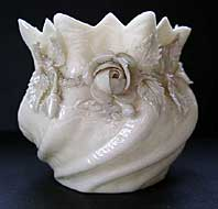 Belleek pottery archive image - BELLEEK IRISH PORCELAIN FLOWER POT POSY VASE 1ST GREEN MARK C.1946-1955